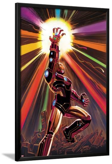 Avengers No.12 Cover: Iron Man-John Romita Jr^-Lamina Framed Poster
