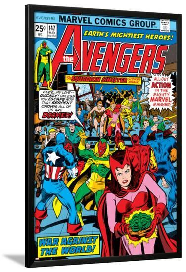 Avengers No.147 Cover: Scarlet Witch-George Perez-Lamina Framed Poster