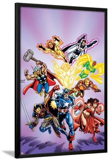 Avengers No.16: Captain America-Jerry Ordway-Lamina Framed Poster