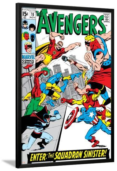 Avengers No.70 Cover: Hyperion-Sal Buscema-Lamina Framed Poster