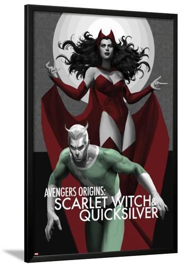 Avengers Origins: The Scarlet Witch & Quicksilver No.1 Cover-Marko Djurdjevic-Lamina Framed Poster