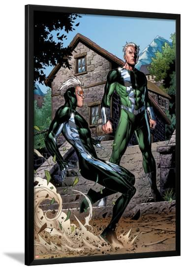 Avengers: The Childrens Crusade No.2: Quicksilver and Speed Standing-Jim Cheung-Lamina Framed Poster