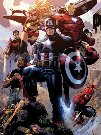Avengers: The Childrens Crusade No.4: Captain America, Ms. Marvel, Iron Man, Spider-Man and Others-Jim Cheung-Wall Decal