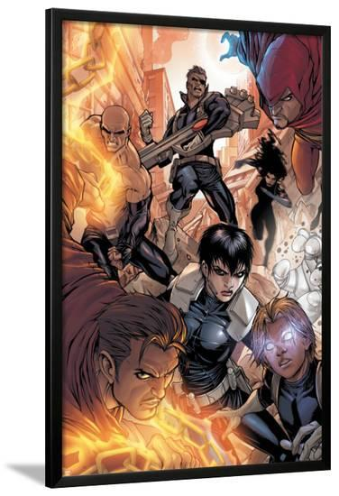 Avengers: The Initiative No.16 Group: Nick Fury, Phobos, Yo-Yo, Hellfire, Druid, Stonewall & Quake-Stefano Caselli-Lamina Framed Poster