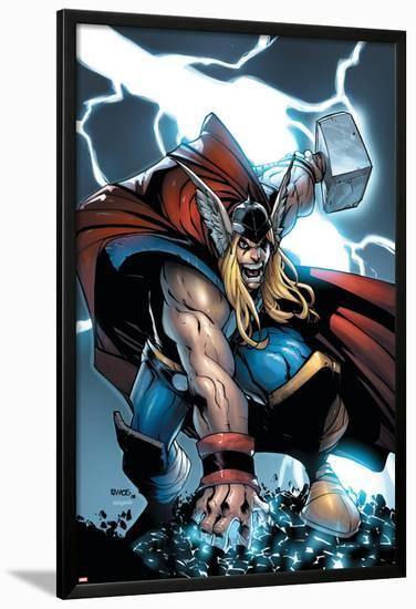 Avengers: The Initiative No.21 Cover: Thor-Humberto Ramos-Lamina Framed Poster