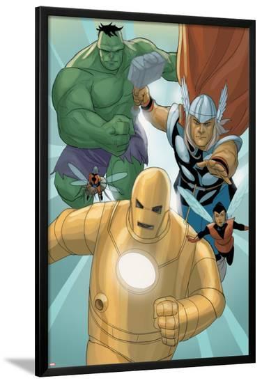 Avengers: The Origin No.5: Iron Man, Thor, Hulk, Wasp, Ant-Man-Phil Noto-Lamina Framed Poster