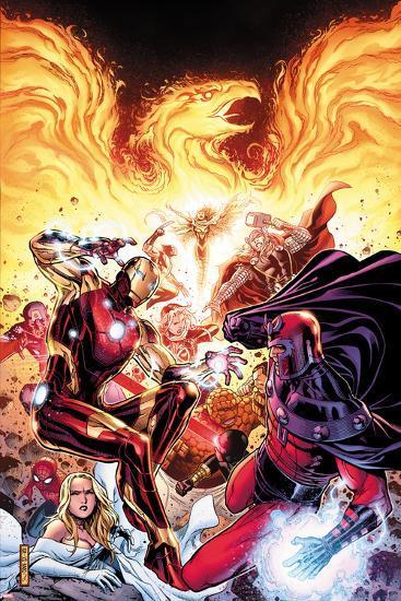 Avengers vs X-Men No.2: Iron Man, Magneto, Thor, and Hope Summers-Jim Cheung-Art Print