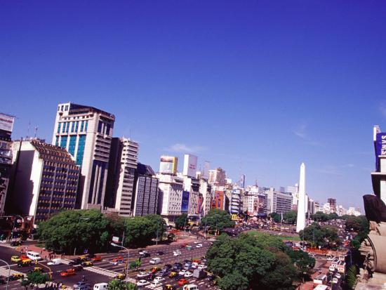 Avenida 9 de Julio and Obelisco, Buenos Aires, Argentina-Michele Molinari-Photographic Print