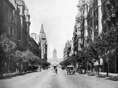 Avenida De Mayo (May Avenu), Buenos Aires, Argentina--Giclee Print