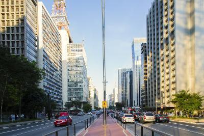 Avenida Paulista, the Most Famous Street in Sao Paulo, Brazil, South America-Alex Robinson-Photographic Print