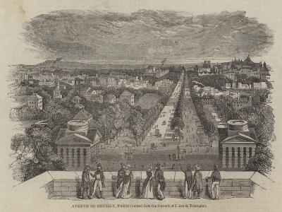Avenue De Neuilly, Paris--Giclee Print