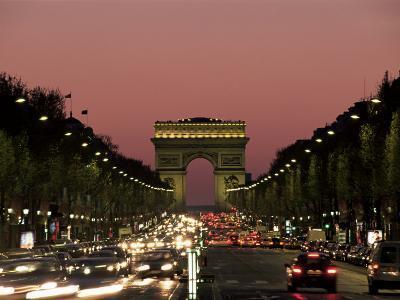 Avenue Des Champs Elysees and the Arc De Triomphe, Paris, France-Neale Clarke-Photographic Print