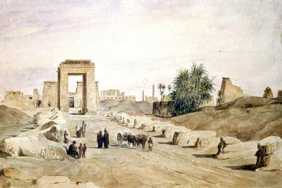 Avenue Des Sphinx, Egypt, 19th Century-Hector Horeau-Giclee Print