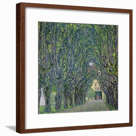 Avenue in the Park of Kammer Castle, 1912-Gustav Klimt-Framed Premium Giclee Print