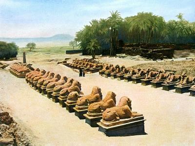 Avenue of Ram-Headed Sphinxes, Temple of Amun-Re, Karnak, Luxor, Egypt, 20th Century--Giclee Print