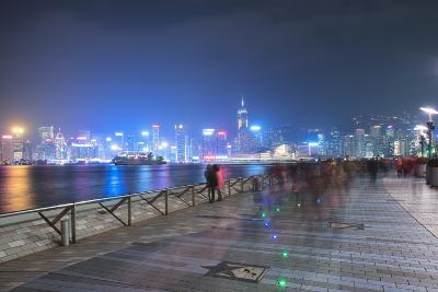 Avenue of Stars at Night, Hong Kong, China, Asia-Andy Brandl-Photographic Print