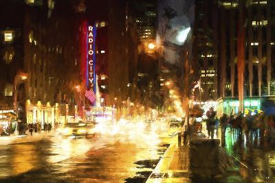 Avenue of the Americas by Night-Philippe Hugonnard-Giclee Print