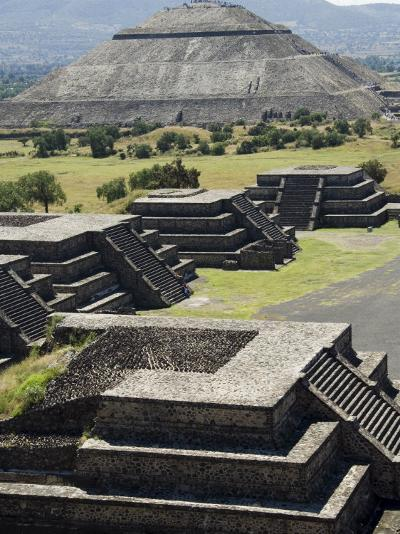 Avenue of the Dead and the Pyramid of the Sun in Background, North of Mexico City, Mexico-Robert Harding-Photographic Print