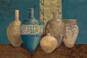 Aegean Vessels on Turquoise by Avery Tillmon