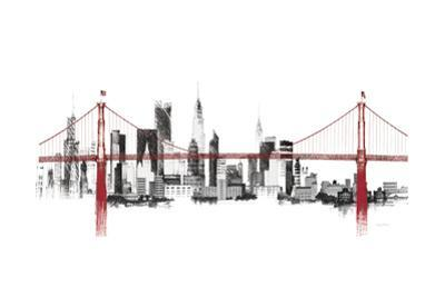 Bridge and Skyline Red by Avery Tillmon