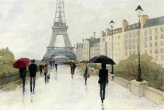 Eiffel in the Rain Marsala Umbrella-Avery Tillmon-Art Print