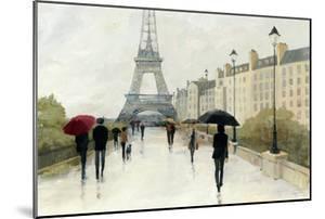 Eiffel in the Rain Marsala Umbrella by Avery Tillmon