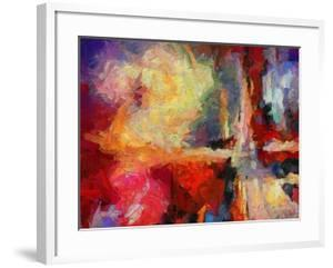 Abstract Art Background. Oil on Canvas. Warm Colors. Soft Brushstrokes of Paint. Modern Art. Contem by Avgust Avgustus