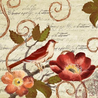 Avian on Red II-Lanie Loreth-Art Print