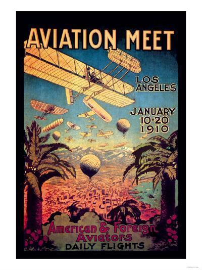 Aviation Meet in Los Angeles--Art Print