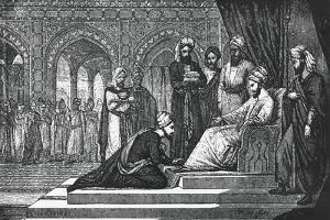 Avicenna (980-1037) Kneeling Down Himself in Front of Governor of Isfahan, 19th Century