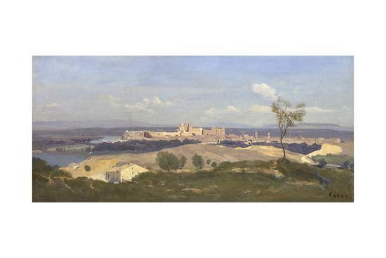 Avignon from the West, 1836-Jean-Baptiste-Camille Corot-Giclee Print