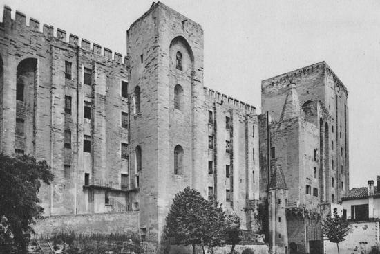 'Avignon. - Popes Palace St. Jean and Trouillas Towers (West Front)', c1925-Unknown-Photographic Print