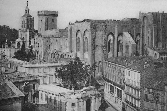 'Avignon - Popes Palace View of the Clock Tower', c1925-Unknown-Photographic Print