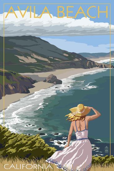 Avila Beach, California - Coast Scene-Lantern Press-Art Print