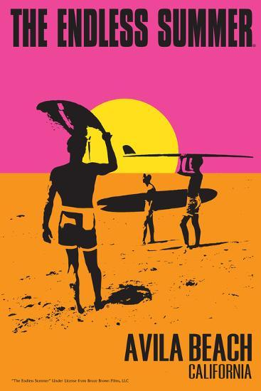 Avila Beach, California - The Endless Summer - Original Movie Poster-Lantern Press-Art Print