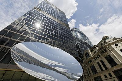 Aviva Tower, Modern Architecture, Saint Mary Axe, London, England, Uk-Axel Schmies-Photographic Print