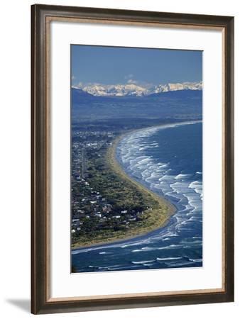 Avon and Heathcote Rivers, Christchurch, Canterbury, New Zealand.-David Wall-Framed Photographic Print