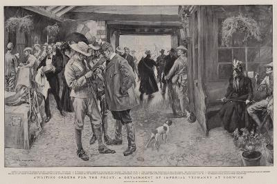 Awaiting Orders for the Front, a Detachment of Imperial Yeomanry at Norwich-William Hatherell-Giclee Print