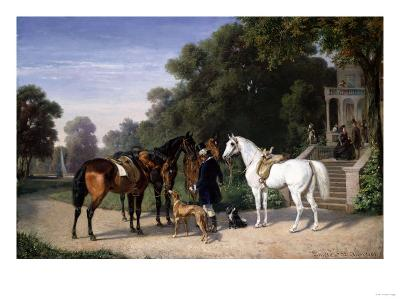 Awaiting the Departure, 1861-Henry Thomas Alken-Giclee Print