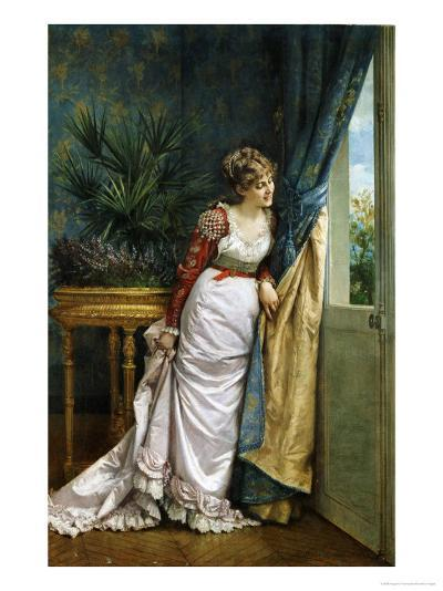 Awaiting the Visitor, 1878-Auguste Toulmouche-Giclee Print