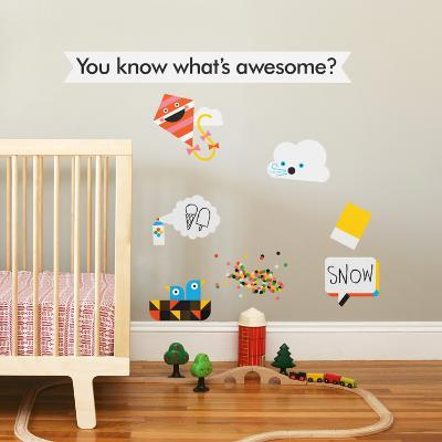 Awesome Collection 1 Wall Decal-Wee Society-Wall Decal