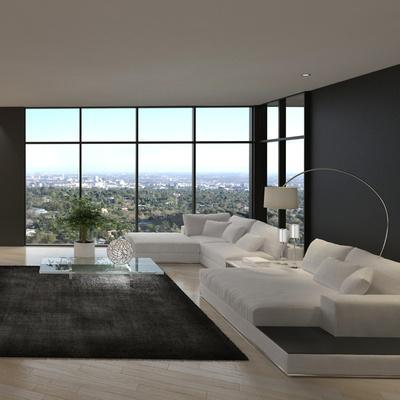 Awesome Modern Loft Living Room, Architecture Interior Photographic Print  By PlusONE | Art.com