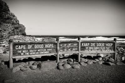 Awesome South Africa Collection B&W - Cape of Good Hope Sign-Philippe Hugonnard-Photographic Print