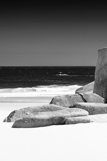 Awesome South Africa Collection B&W - Tranquil White Sand Beach II-Philippe Hugonnard-Photographic Print