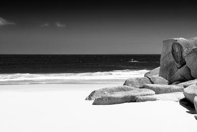 Awesome South Africa Collection B&W - Tranquil White Sand Beach-Philippe Hugonnard-Photographic Print