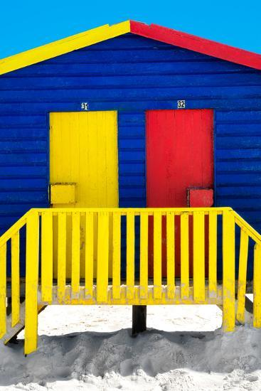 """Awesome South Africa Collection - Close-Up Colorful Houses """"Thirty One & Thirty Two"""" Blue-Philippe Hugonnard-Photographic Print"""
