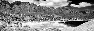 Awesome South Africa Collection Panoramic - Camps Bay Cape Town B&W-Philippe Hugonnard-Photographic Print