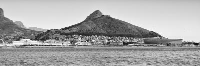 Awesome South Africa Collection Panoramic - Idyllic Moutain and sea Scenery - Cape Town B&W-Philippe Hugonnard-Photographic Print