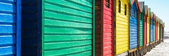 Awesome South Africa Collection Panoramic - Muizenberg Beach Huts V-Philippe Hugonnard-Photographic Print