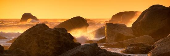 Awesome South Africa Collection Panoramic - Power of the Ocean at Sunset IV-Philippe Hugonnard-Photographic Print